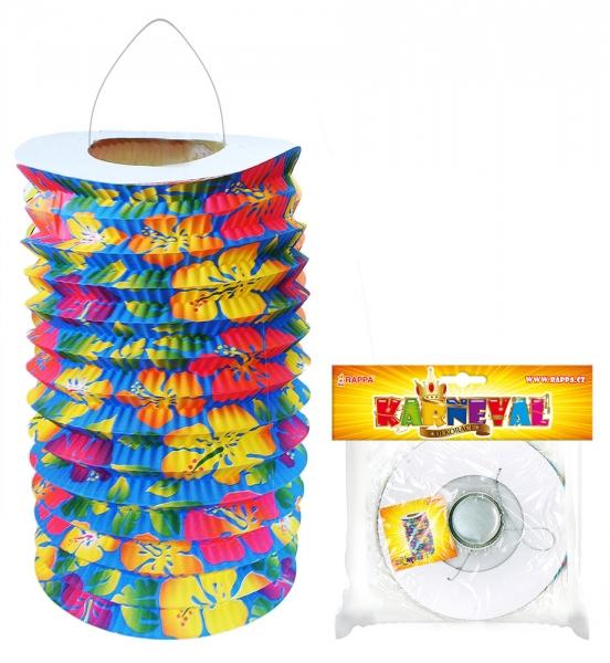 Lampion HAWAII, čajová svíčka, 15 cm