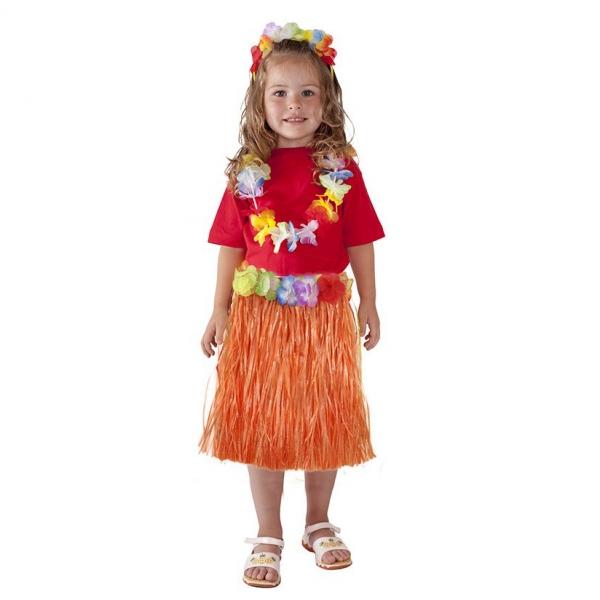 Sukně Hawaii dětská 45 cm oranžová