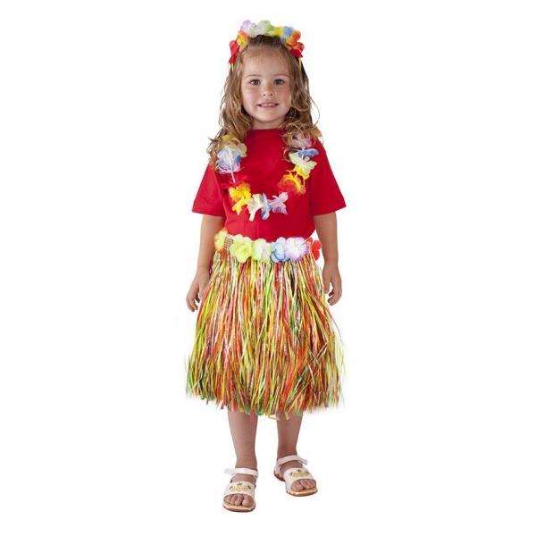 Sukně Hawaii barevná 45 cm dětská