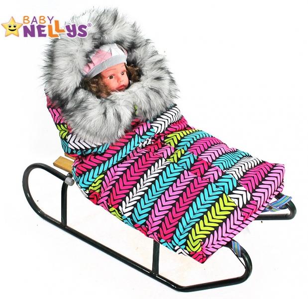 Fusák nejen do autosedačky Baby Nellys ® ESKYMO s kožíškem LUX - 01