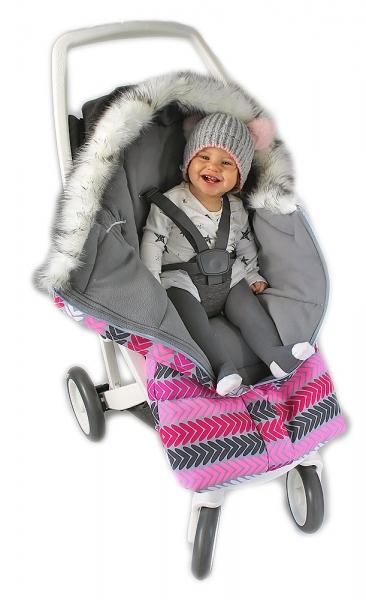 Fusák nejen do autosedačky Baby Nellys ® ESKYMO s kožíškem LUX - 05
