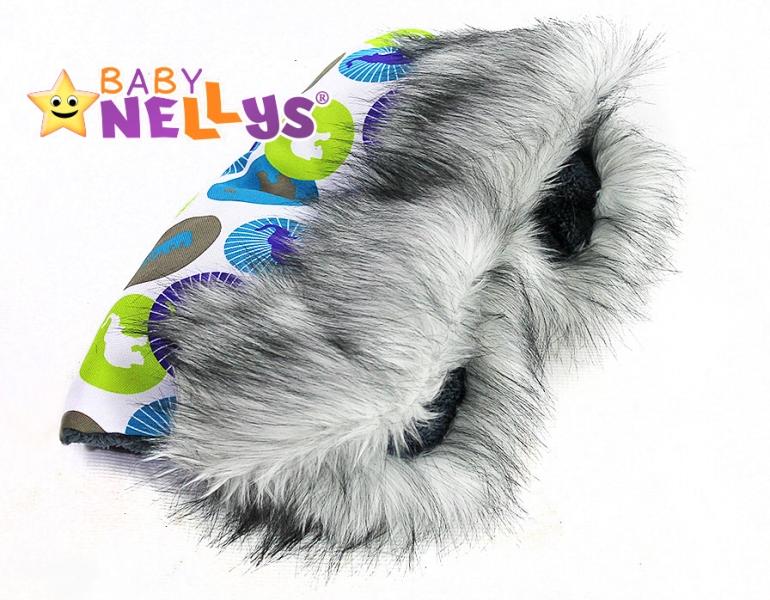 Rukávník ke kočárku s kožešinkou Baby Nellys ®LUX Eskymo - 02