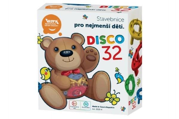 Stavebnice DISCO 32 plast 32KS v krabici 15x17cm