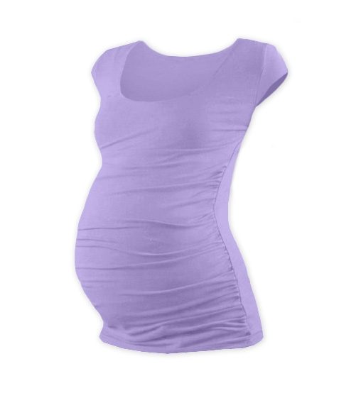 Těhotenské triko mini rukáv JOHANKA - levandule