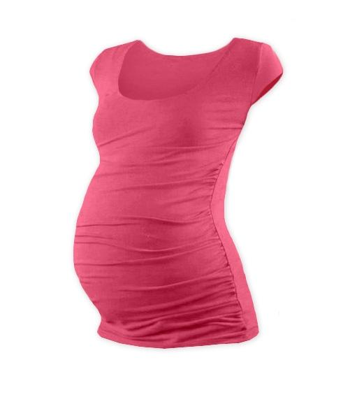 JOŽÁNEK Těhotenské triko mini rukáv JOHANKA - lososově růžová