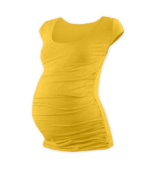 JOŽÁNEK Těhotenské triko mini rukáv JOHANKA - žlutooranžová