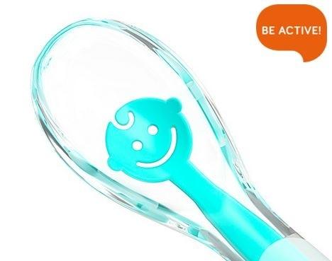 BabyOno Silikonová lžička měkká - BABY´S SMILE - růžová
