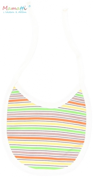 Bryndáček bavlna Mamatti - CAR - barevné proužky