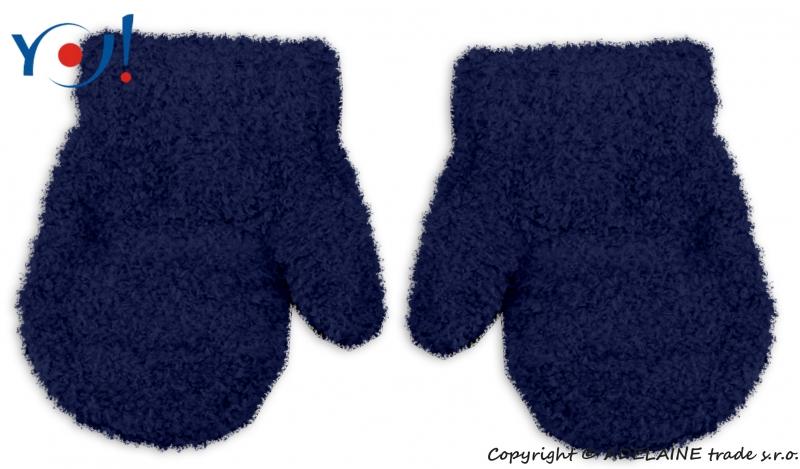 Zimní kojenecké chlapecké froté rukavičky YO - granátové