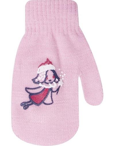 Kojenecké dívčí akrylové  rukavičky YO - sv. růžové