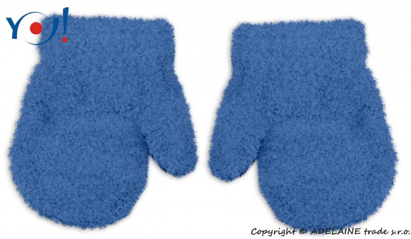 Zimní kojenecké chlapecké froté rukavičky YO - jeans