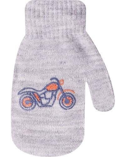 Kojenecké chlapecké akrylové  rukavičky YO - šedé