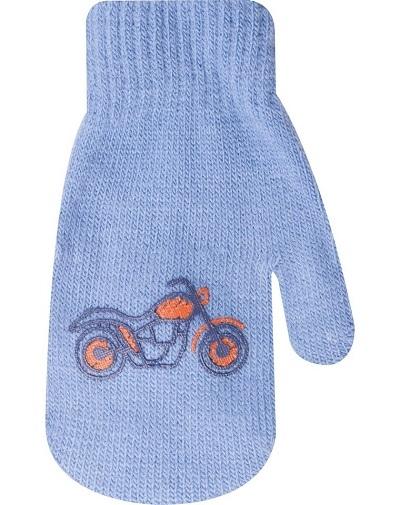 YO !  Kojenecké chlapecké akrylové  rukavičky YO - modré