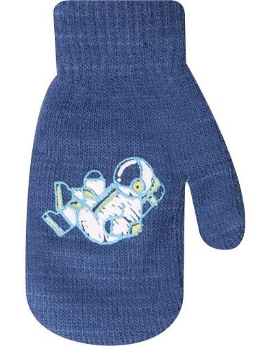 YO !  Kojenecké chlapecké akrylové  rukavičky YO - jeans