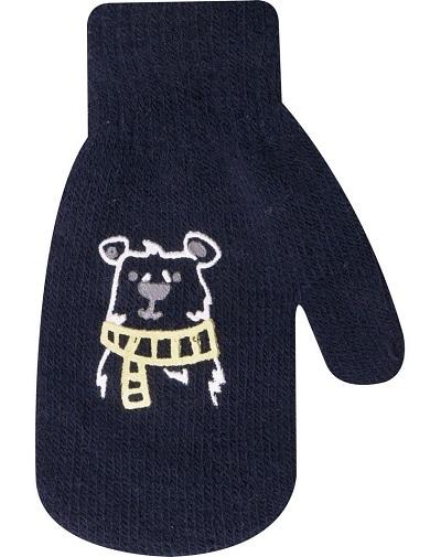 YO !  Kojenecké chlapecké akrylové  rukavičky YO - granátové