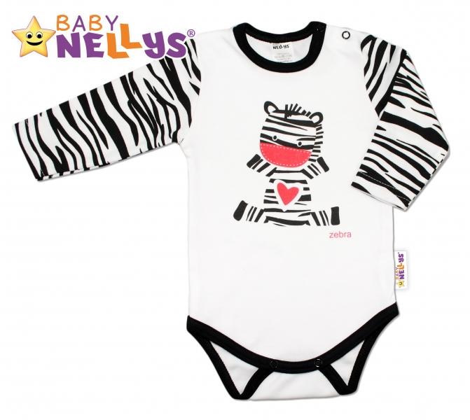 Bavlněné body dlouhý rukáv ZEBRA Baby Nellys ®
