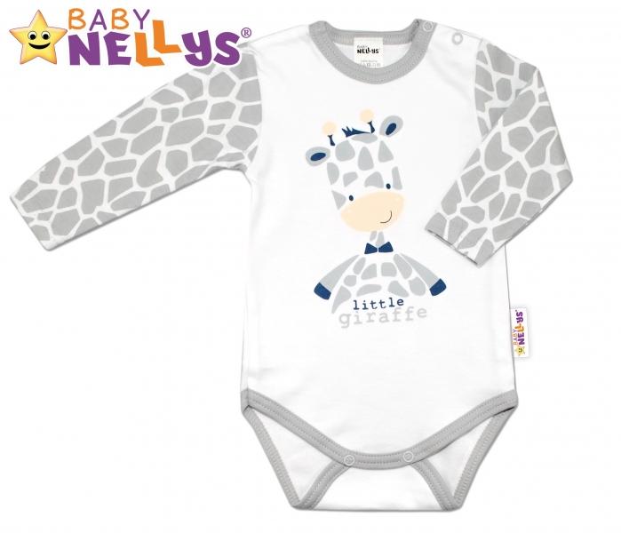 Bavlněné body dlouhý rukáv ŽIRAFA Baby Nellys ®