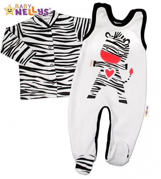 2 dílná sada - Bavlněné dupačky s košilkou ZEBRA Baby Nellys ®