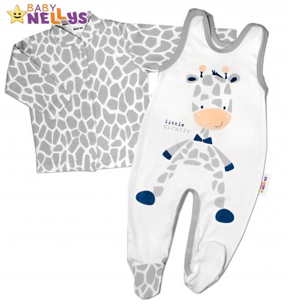 2 dílná sada - Bavlněné dupačky s košilkou ŽIRAFA Baby Nellys ®
