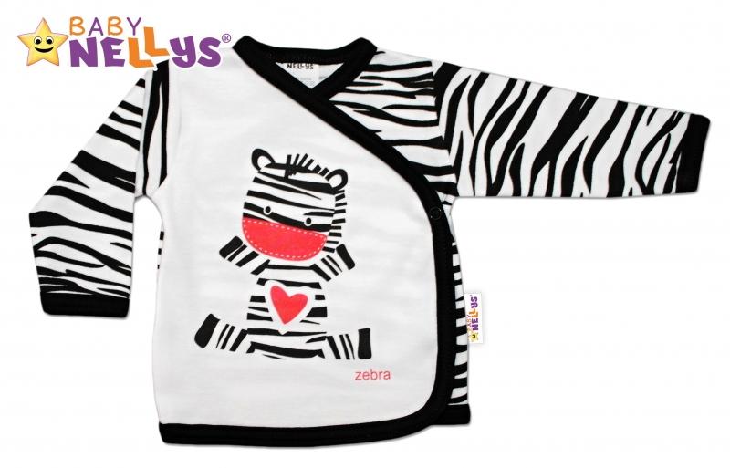 Bavlněná novorozenecká košilka ZEBRA Baby Nellys ®, Velikost: 68 (4-6m)
