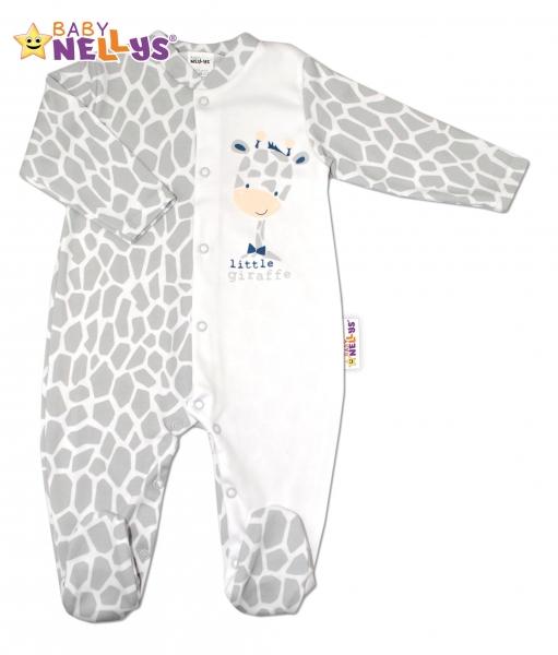 Bavlněný overálek ŽIRAFA Baby Nellys ®, Velikost: 68 (4-6m)