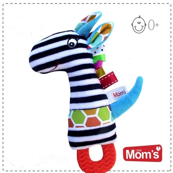 Hencz Toys Edukační hračka Hencz s pískátkem, kousátkem ZEBRA