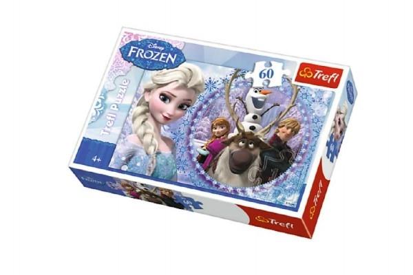 Puzzle Ledové království/Frozen 33x22cm 60 dílků v krabici 21x14x4cm