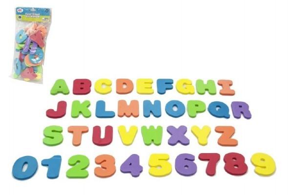 Vodolepky pěnová písmena a číslice do vany 36ks v sáčku