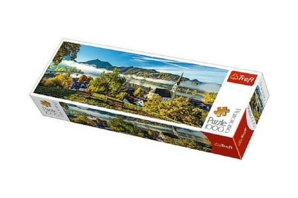 Puzzle jezero Schliersee panoramic 1000 dílků 97x34cm v krabici 40x13x7cm