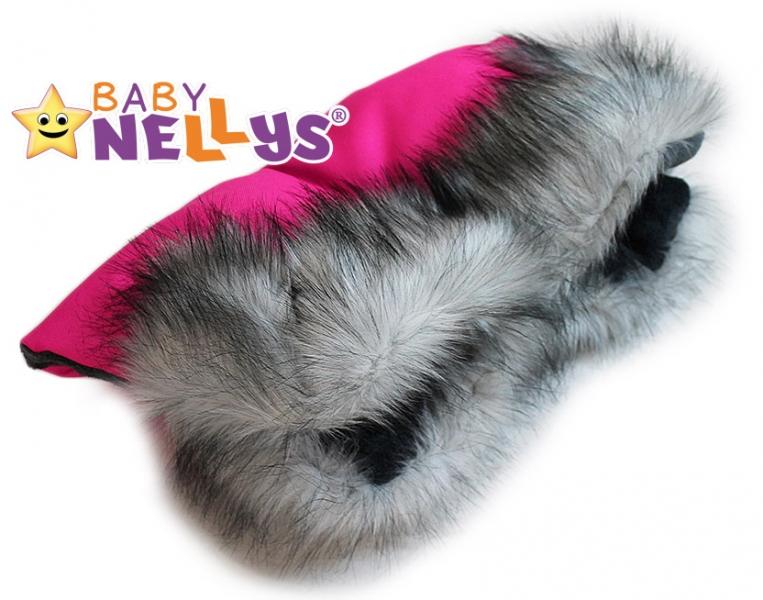 Rukávník ke kočárku s kožešinkou Baby Nellys ®LUX Eskymo - 07