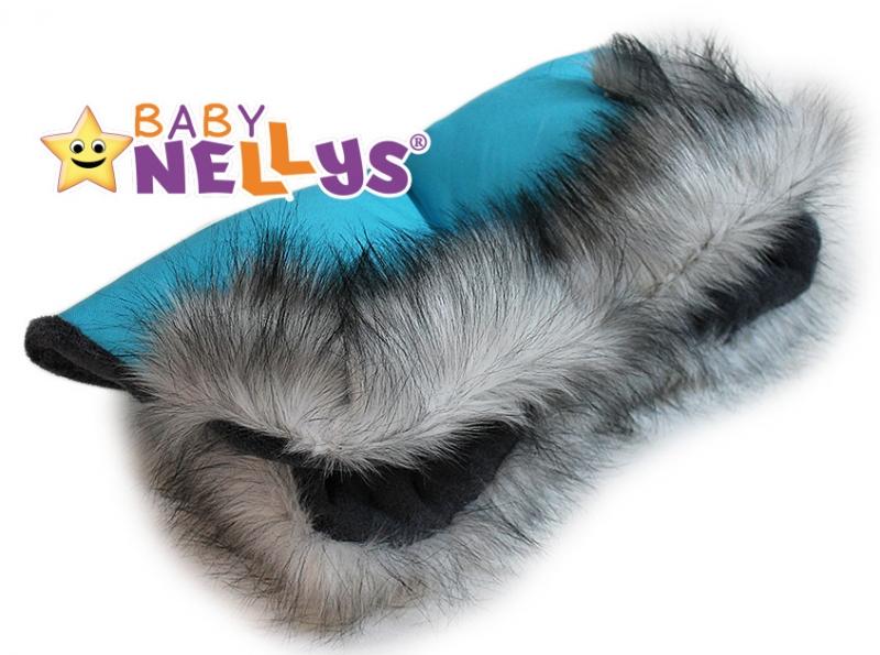 Rukávník ke kočárku s kožešinkou Baby Nellys ®LUX Eskymo - 09