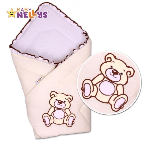 Baby Nellys Zavinovačka Teddy Bear - jersey - smetanová