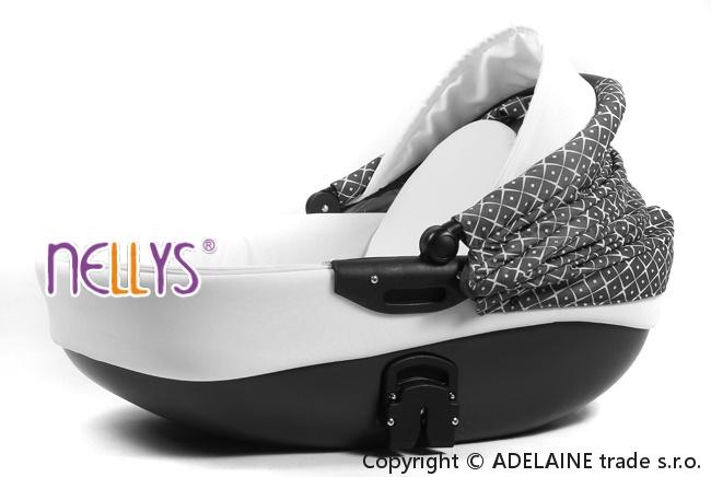 Kočárek Lally 3v1 - amarant