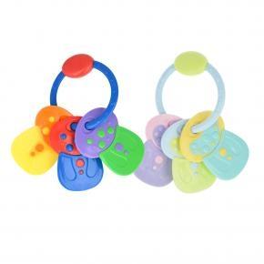 Chrastítko - kousátko Klíče Akuku - různé barvy
