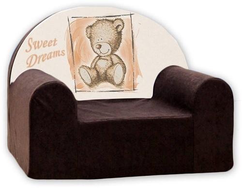 Dětské křeslo Nellys - Sweet Dreams by Teddy - hnědé