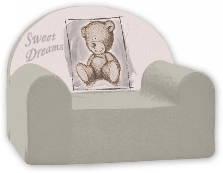 Dětské křeslo Nellys - Sweet Dreams by Teddy - šedé
