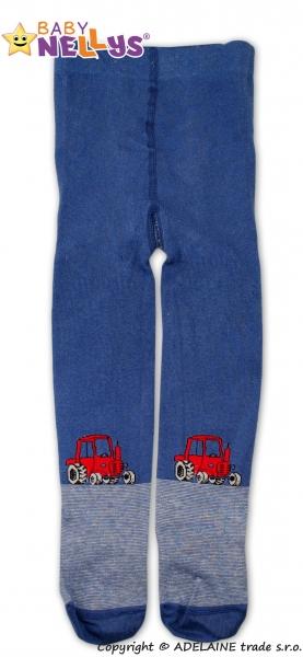Bavlněné punčocháče Baby Nellys ® - Traktor tm. modré