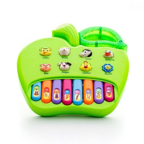 Euro Baby Edukační hračka hrající jablko - zelené