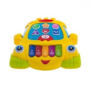 Euro Baby Edukační hrající hračka Autíčko - žluté