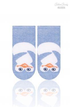 Kojenecké ponožtičky CANDY - Tučňák - tm. modrá (velikost: 17/19 - cca 13cm , barva: tm. modrá)