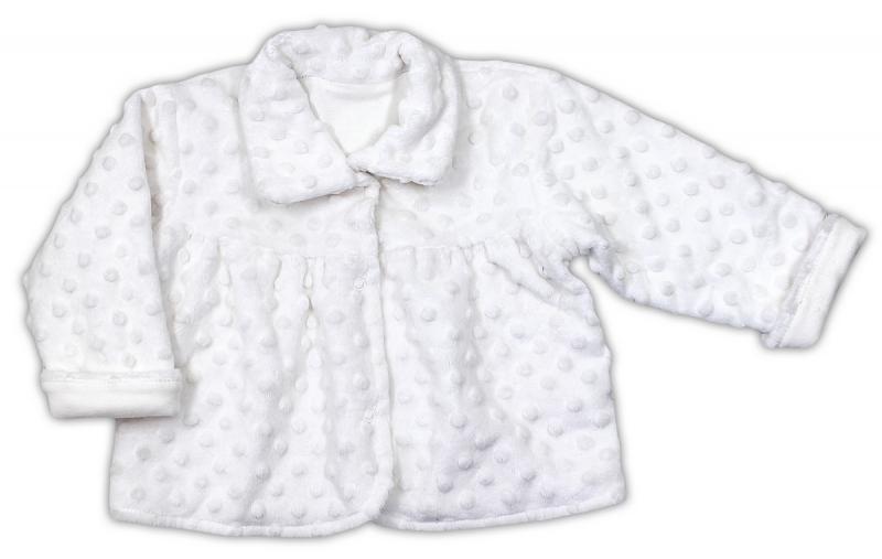 Kabátek NICOL MINKY ELEGANT BABY GIRL - bílý