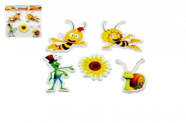 Pěnové dekorace na zeď Včelka Mája Slunečnice 5ks v sáčku 32x37cm