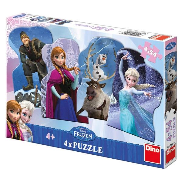 Puzzle 4 x 54 FROZEN - Ledové království
