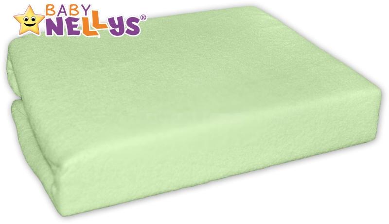 Baby Nellys jersey prostěradlo  90 x 90 cm - zelené