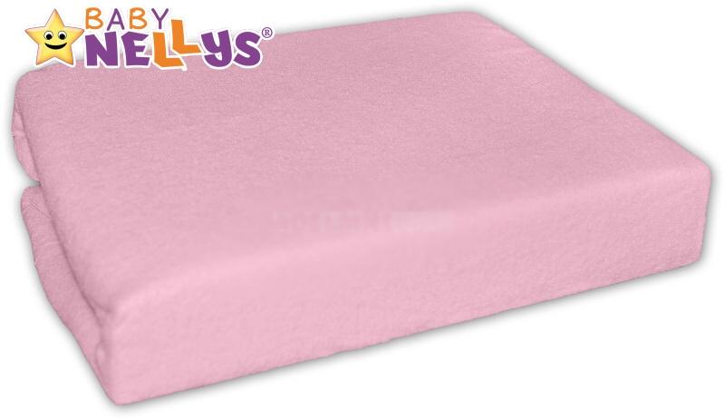 Baby Nellys jersey prostěradlo růžové 90x90cm