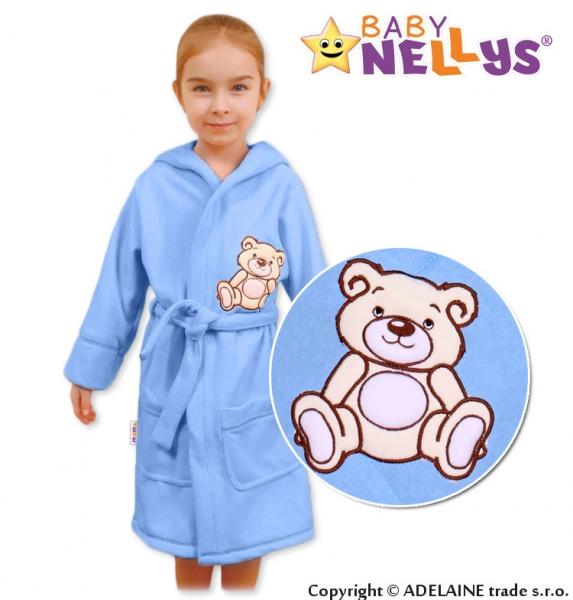 Baby Nellys Dětský župan - Medvídek Teddy Bear, 98/104 - sv. modrý