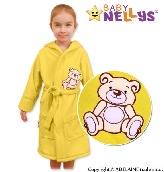 Baby Nellys Dětský župan - Medvídek Teddy Bear, 98/104  - krémový