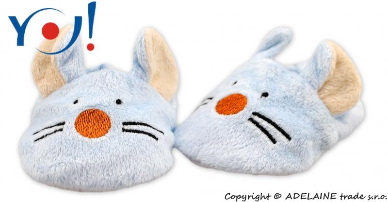 Botičky/capáčky YO! Zvířátka - Myška, Velikost: 6/12měsíců