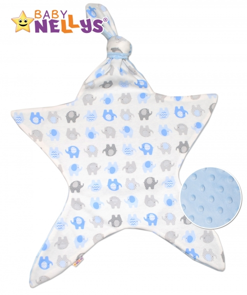 Mazlík pro nejmenší látkový Baby Nellys ® - Sloni modří
