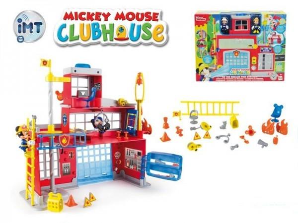 Mickey Mouse Clubhouse hasičská stanice + 2 figurky plast na baterie se světlem a zvu